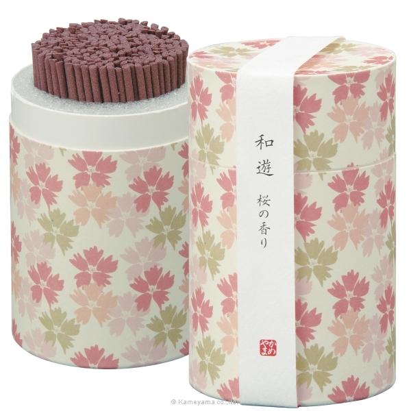 和遊 桜の香りミニ寸筒箱
