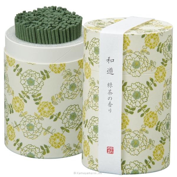 和遊 緑茶の香りミニ寸筒箱