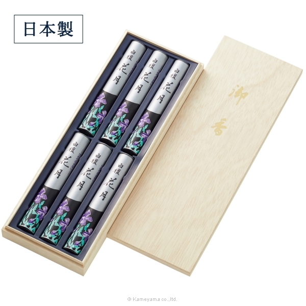 孔官堂 御香白檀花月6函入【高級木箱入り】